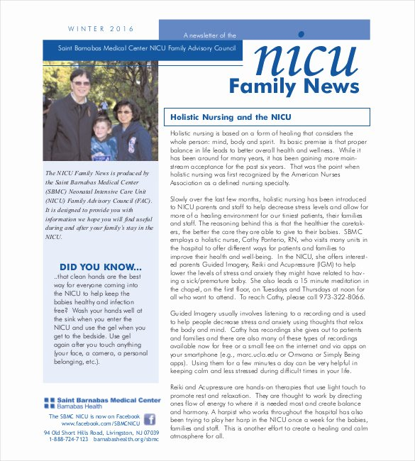 Free Print Newsletter Templates Lovely 10 Family Newsletter Templates