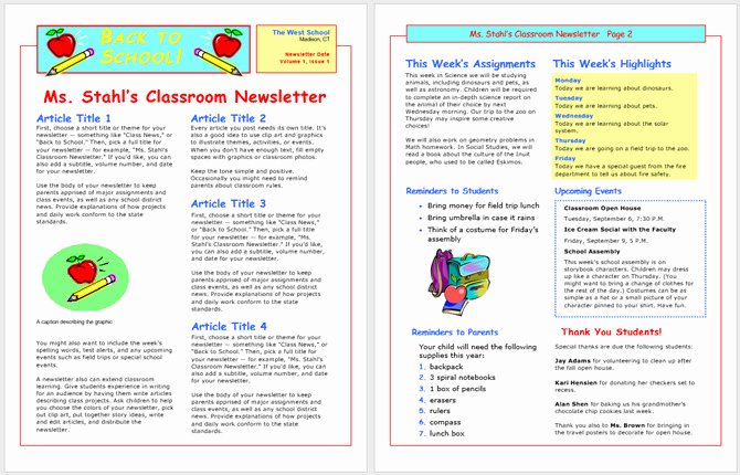 Free Print Newsletter Templates Lovely 13 Free Newsletter Templates You Can Print or Email as Pdf