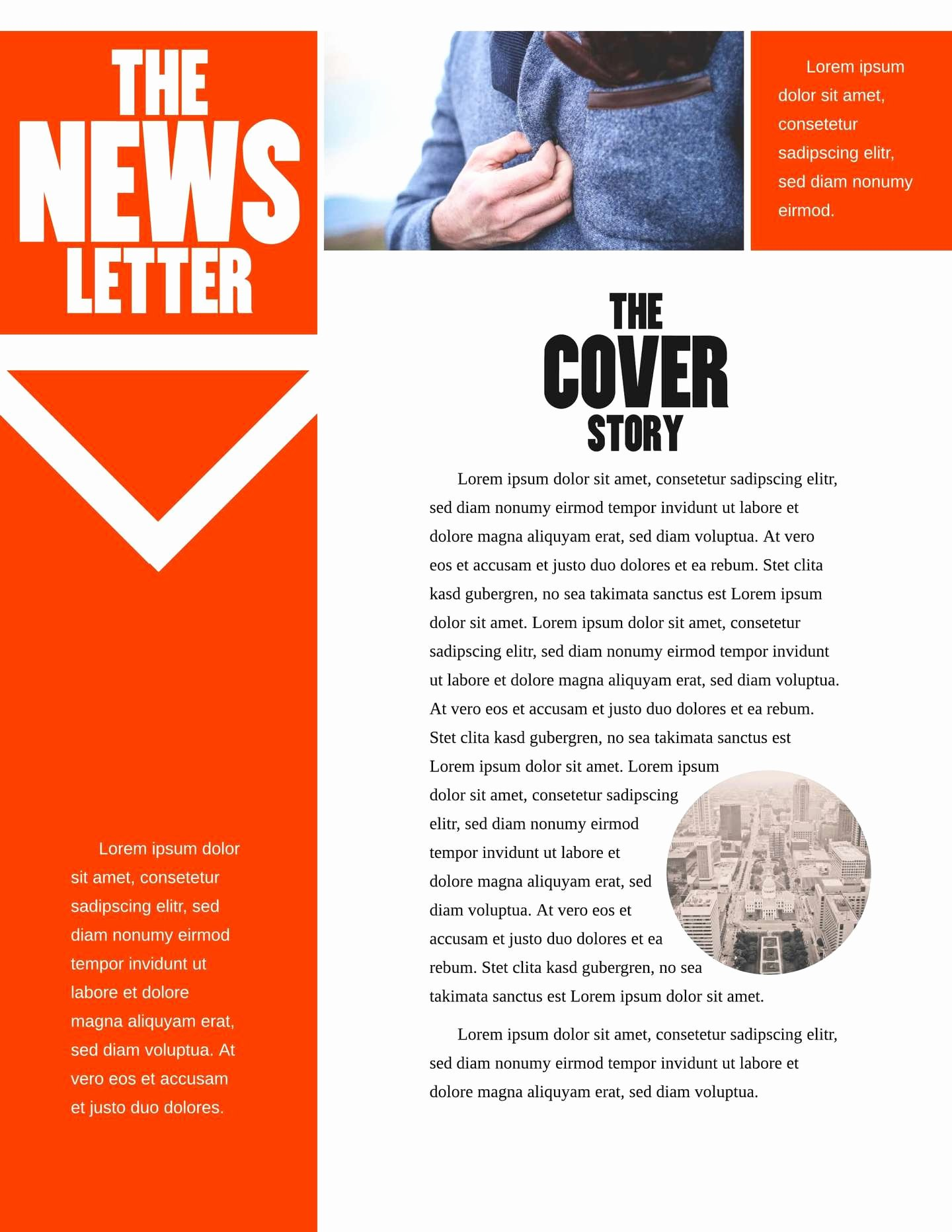 Free Print Newsletter Templates New Free Printable Newsletter Templates & Examples