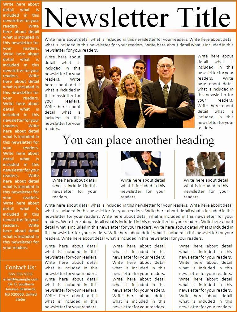 Free Print Newsletter Templates Unique Business Templates