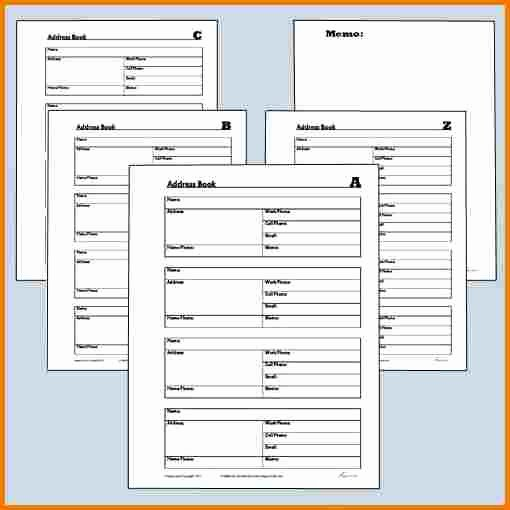 Free Printable Address Book Template Awesome Free Printable Address Book