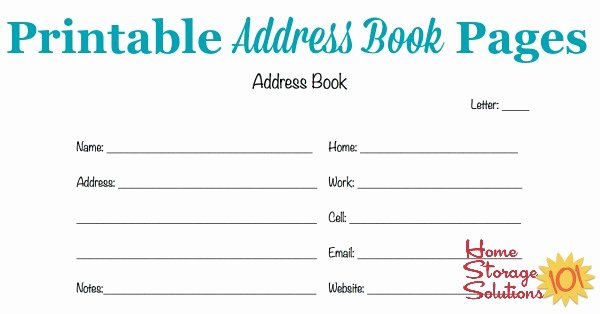 Free Printable Address Book Template Elegant Free Printable Address Book Pages Get Your Contact