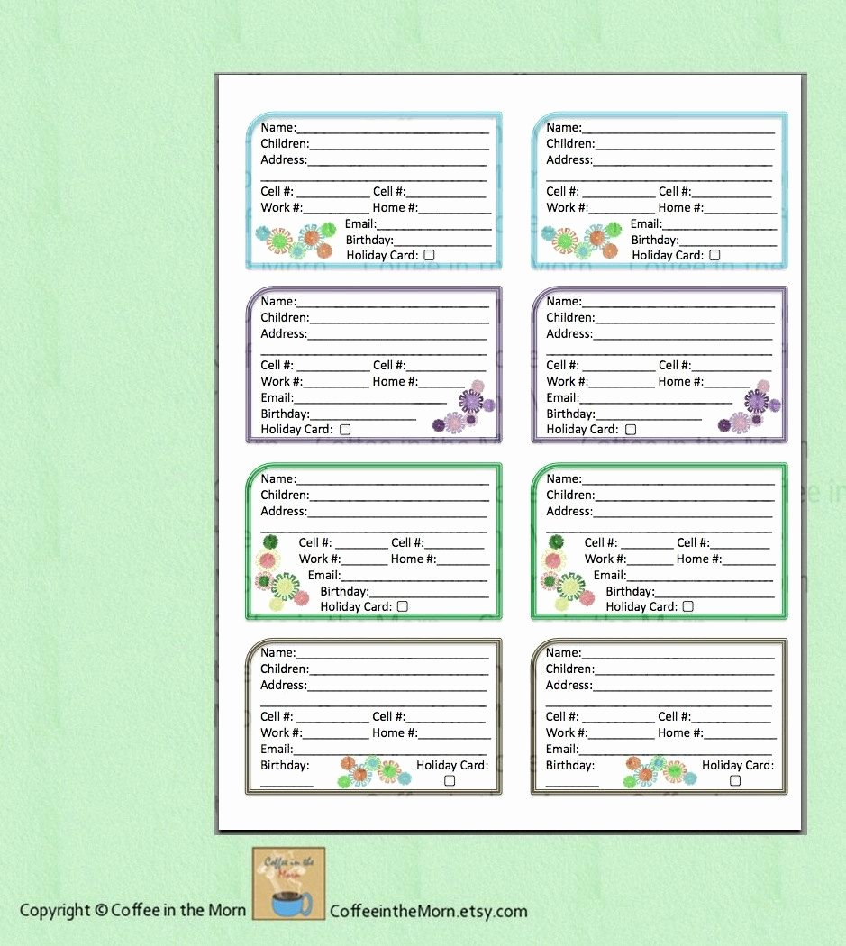 Free Printable Address Book Template Fresh Address Book Contact List Pdf Printable Digital Download