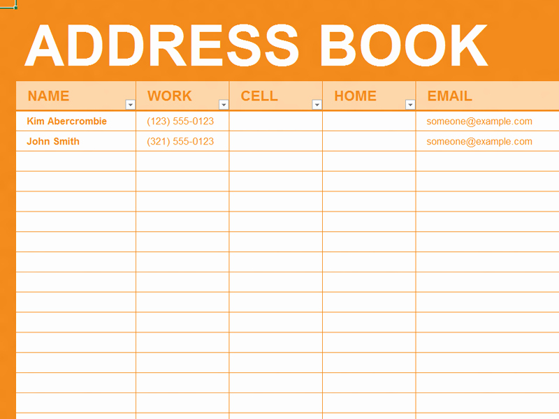 Free Printable Address Book Template Luxury Free Excel Template Personal Address Book