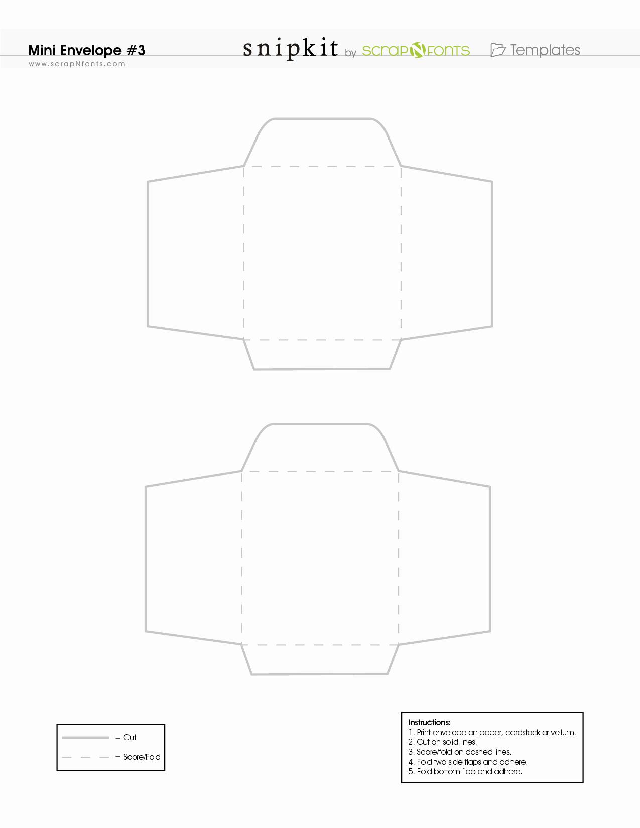 Free Printable Envelope Templates Lovely Free Printable Mini Envelope Template Pdf