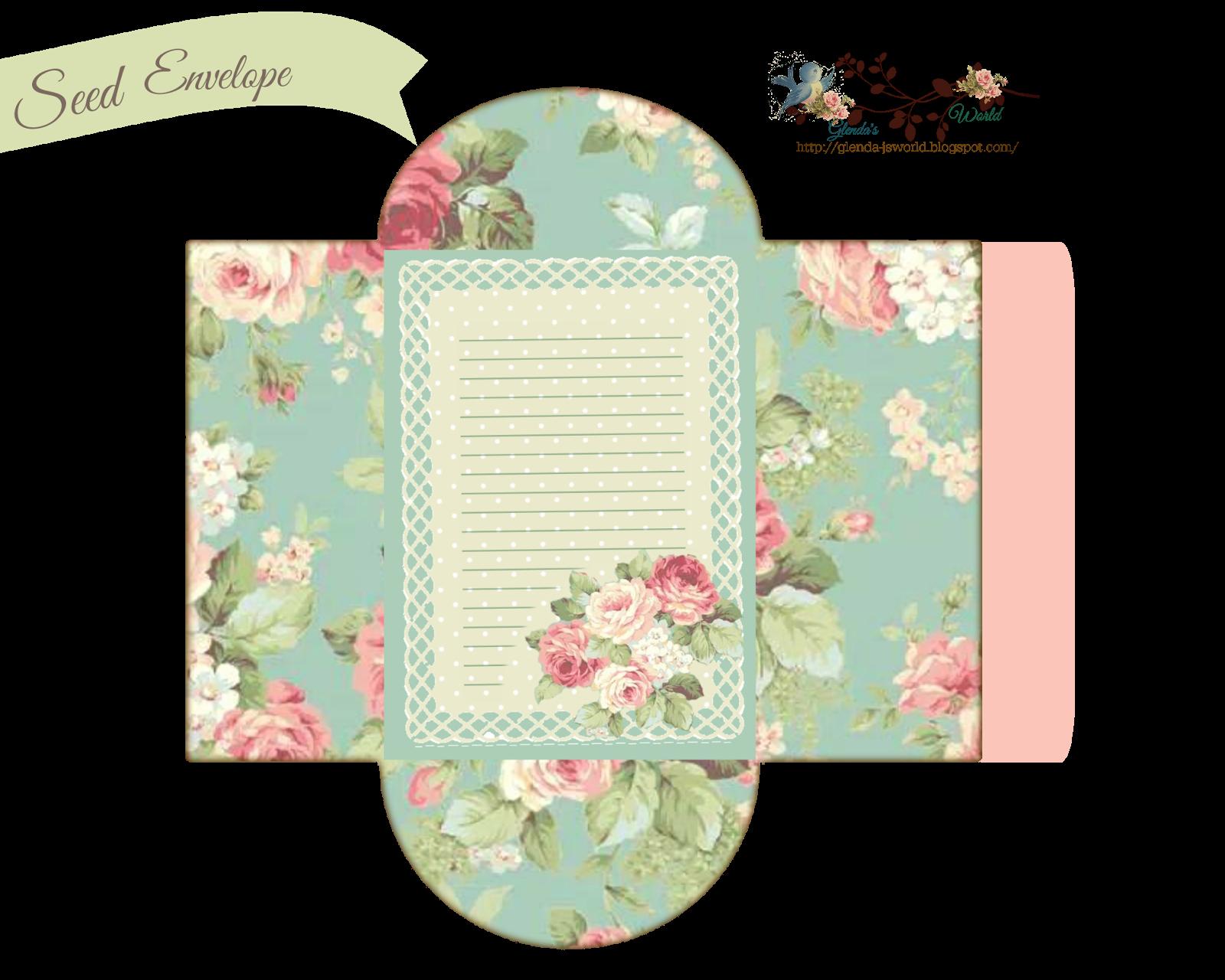 Free Printable Envelope Templates Lovely Glenda S World Seed Envelope Packets