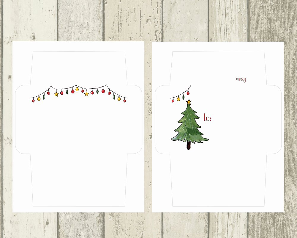 Free Printable Envelope Templates Lovely Holiday Mail Art Envelope Templates