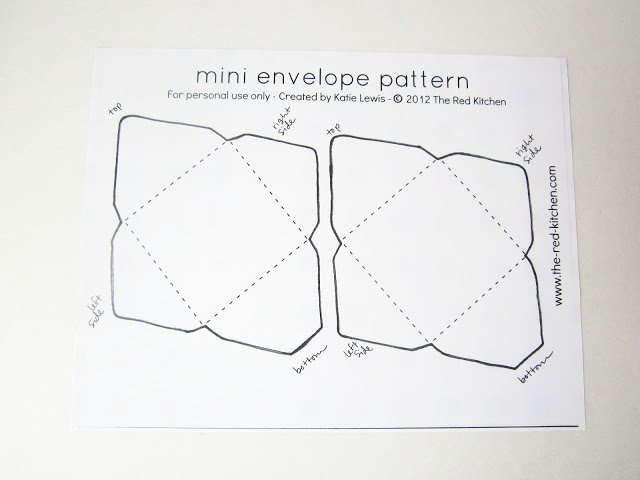Free Printable Envelope Templates Lovely the Red Kitchen Diy Mini Envelopes Free Printable