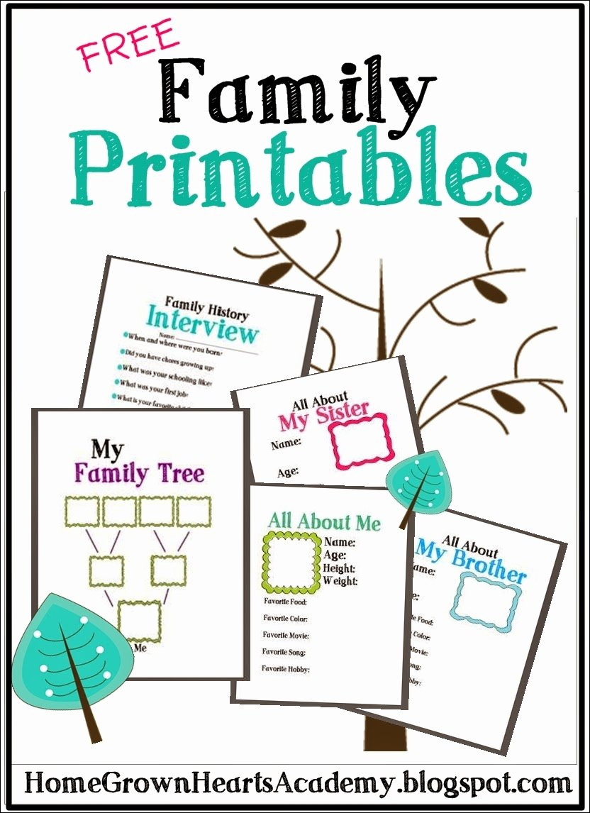 Free Printable Family Tree Template New Free Family Tree Printables and Ideas Homeschool Giveaways