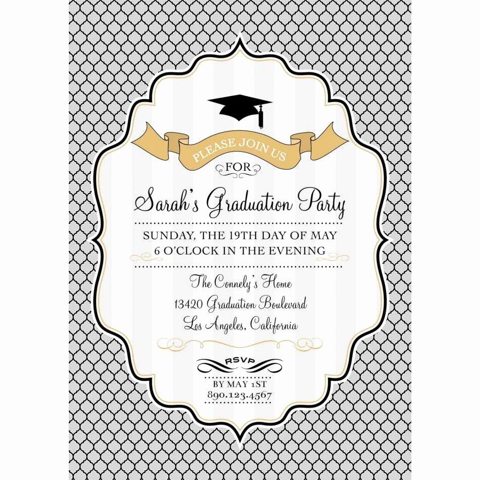 Free Printable Graduation Announcement Templates Elegant Card Template Graduation Invitation Template Card