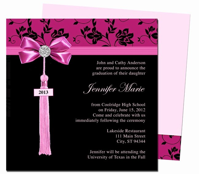 Free Printable Graduation Announcement Templates Elegant Graduation Announcements Templates Feminine Style Design
