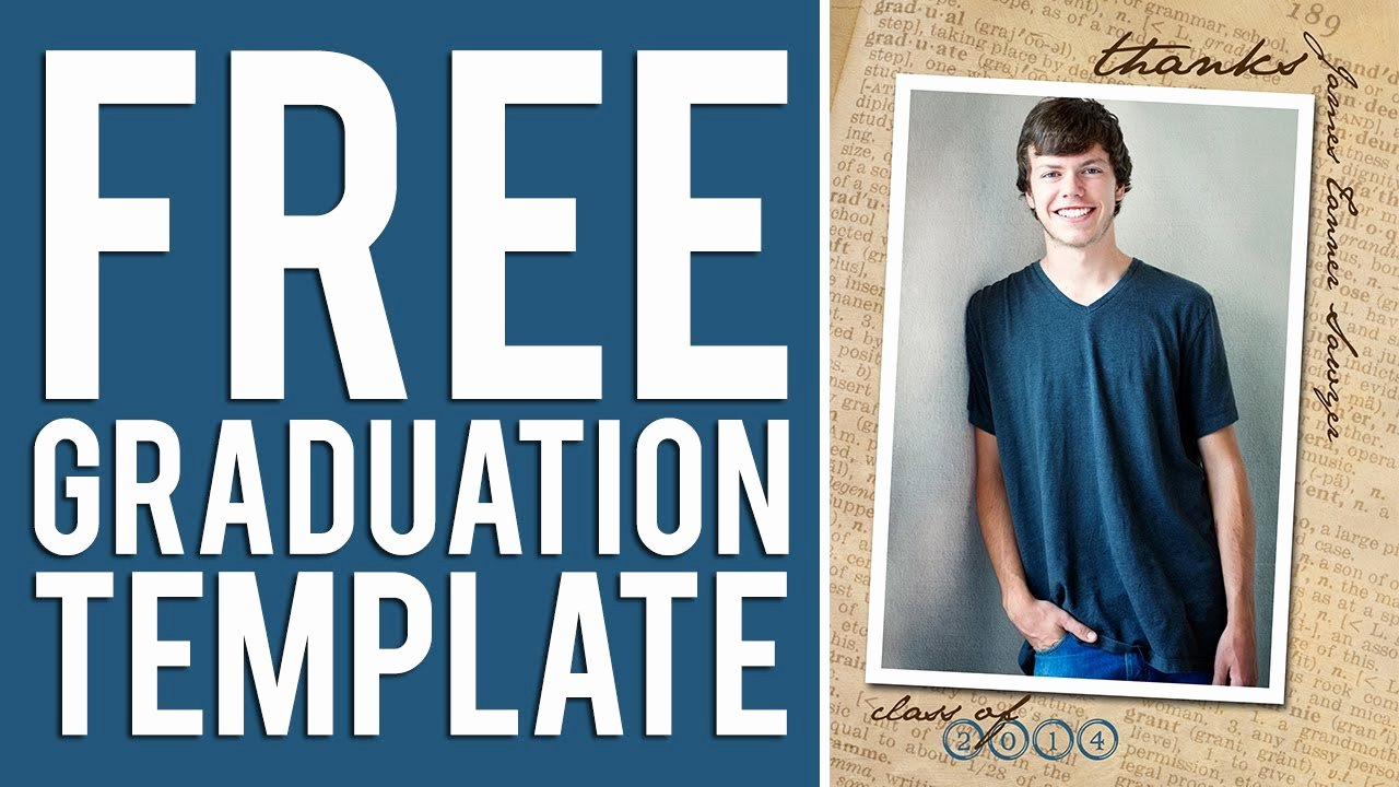 Free Printable Graduation Announcement Templates Inspirational Free Graduation Templates Tutorial Shop & Elements