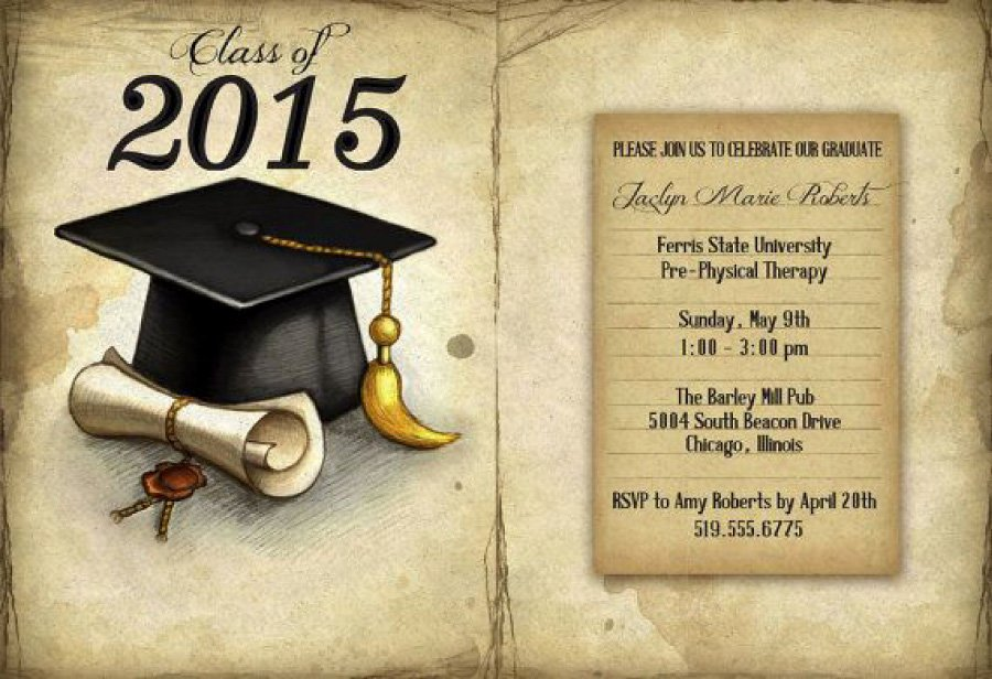 Free Printable Graduation Announcement Templates Luxury 40 Free Graduation Invitation Templates Template Lab