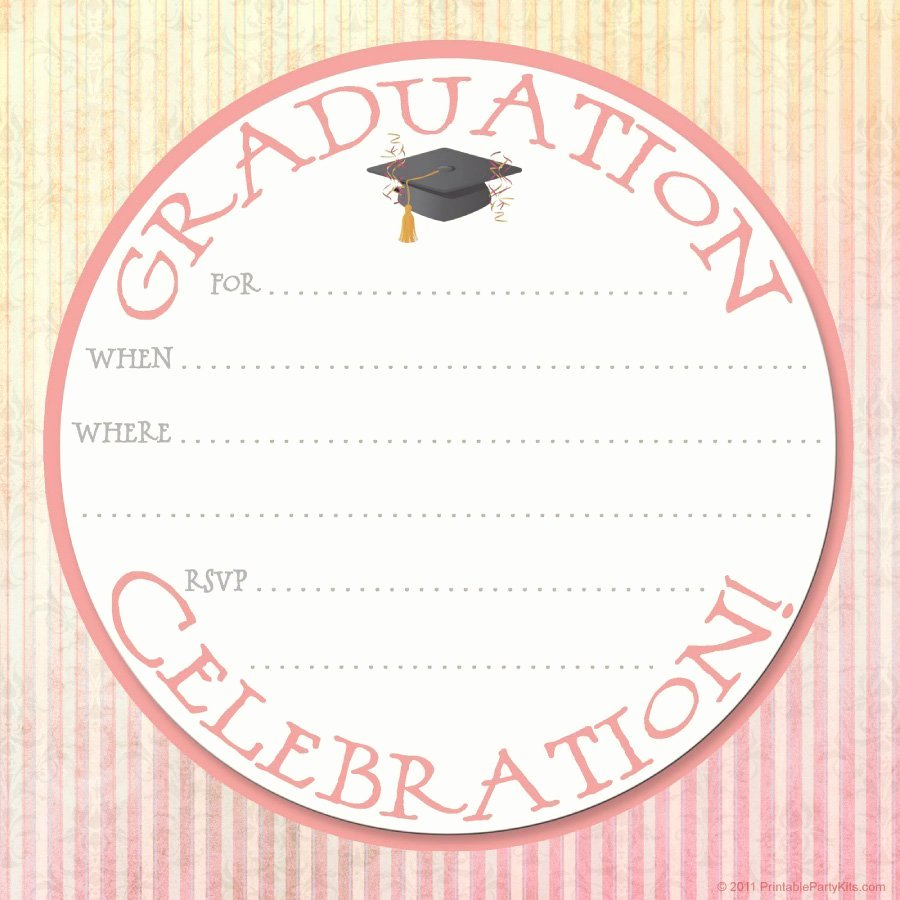 Free Printable Graduation Announcement Templates Luxury 40 Free Graduation Invitation Templates Template Lab
