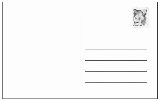 Free Printable Postcard Templates Awesome 21 Free Postcard Template Word Excel formats