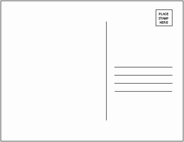 Free Printable Postcard Templates Lovely Post Cards Photo Clipart Clipground
