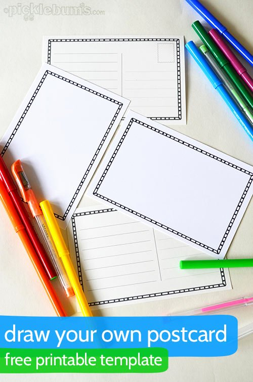 Free Printable Postcard Templates Unique Draw Your Own Postcard Picklebums