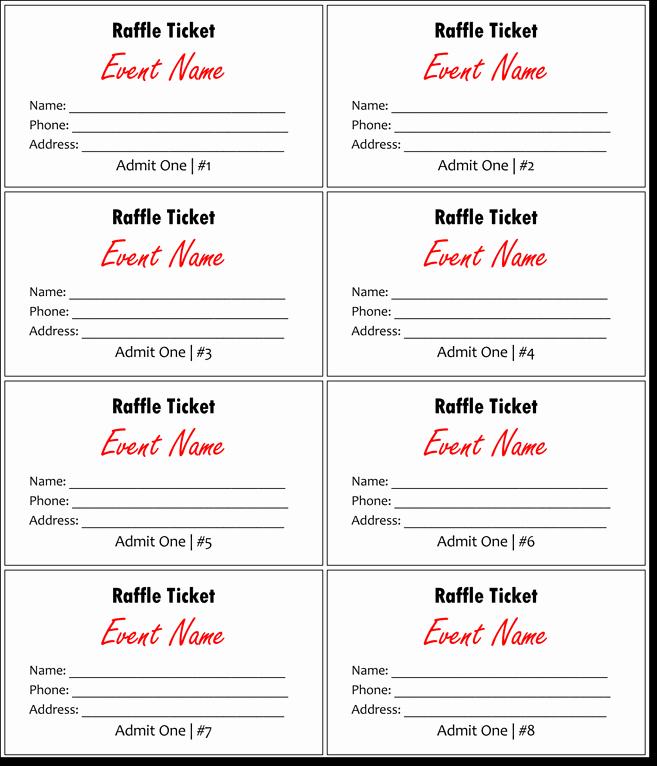 Free Printable Raffle Ticket Template Best Of 20 Free Raffle Ticket Templates with Automate Ticket