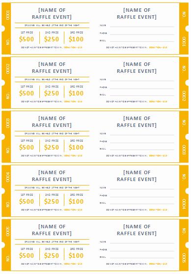 Free Printable Raffle Ticket Template Best Of 45 Raffle Ticket Templates