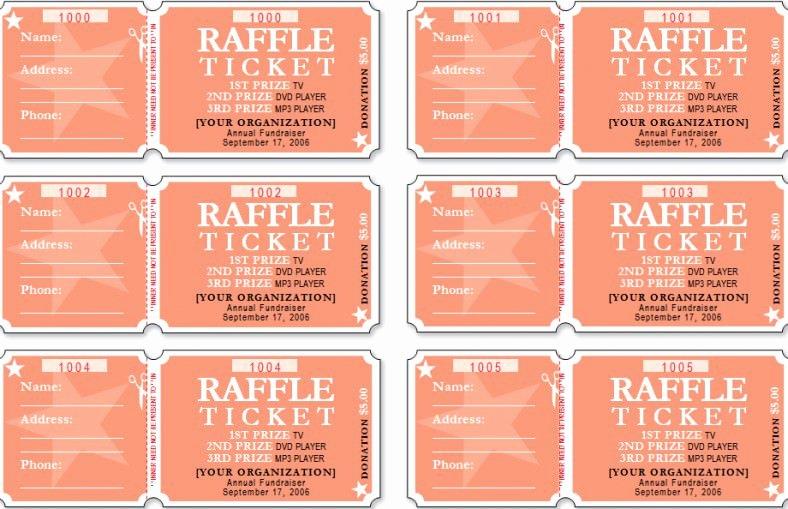 Free Printable Raffle Ticket Template Elegant 19 Sample Printable Raffle Ticket Templates Psd Ai