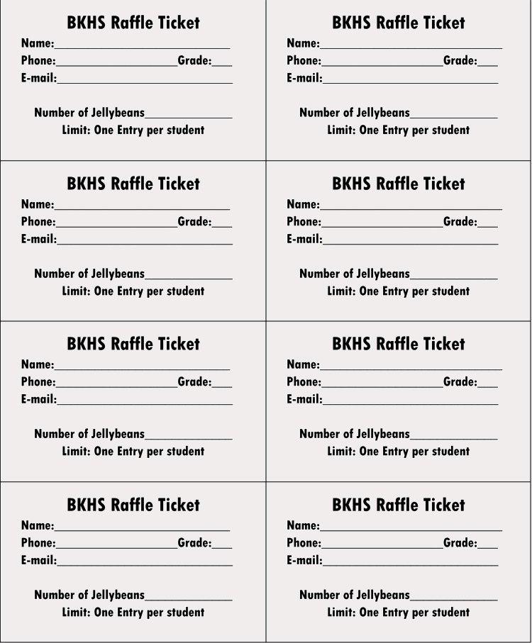 Free Printable Raffle Ticket Template Fresh 45 Raffle Ticket Templates