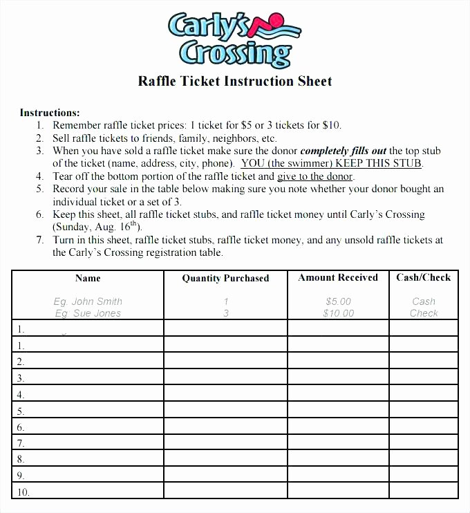 Free Printable Raffle Ticket Template Unique 9 10 Raffle Ticket Printing Template