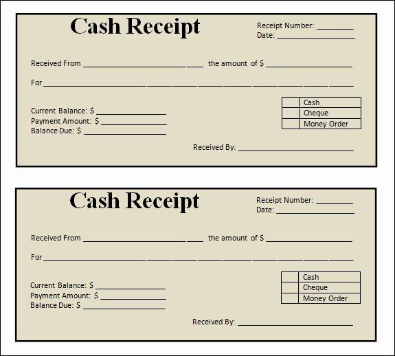 Free Printable Receipt Templates Elegant 13 Blank Receipt Template