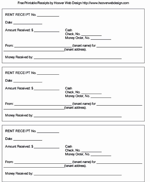 Free Printable Receipt Templates Unique Free Rent Receipt Template and What Information to Include