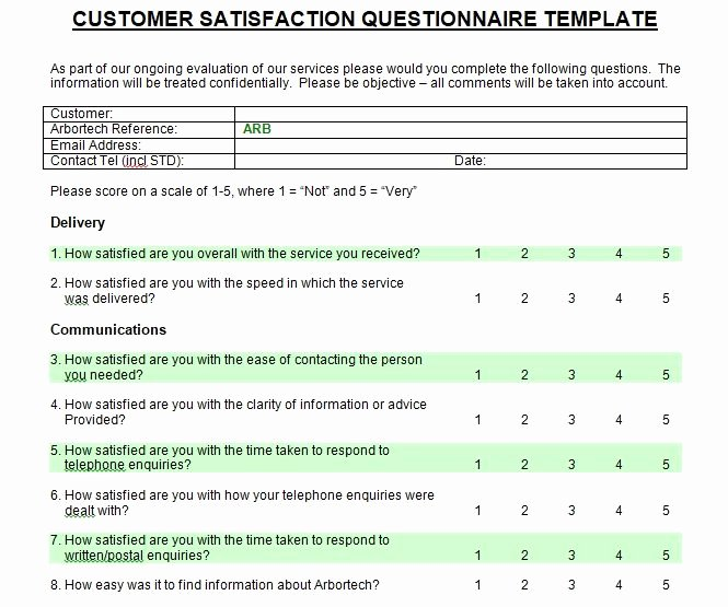 Free Printable Survey Template Lovely Customer Satisfaction Survey Introduction Sample
