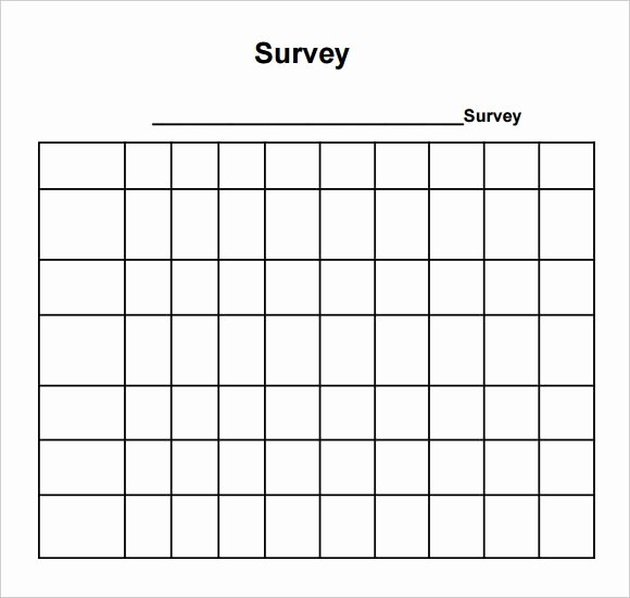 Free Printable Survey Template Luxury Sample Blank Survey 6 Documents In Pdf Word