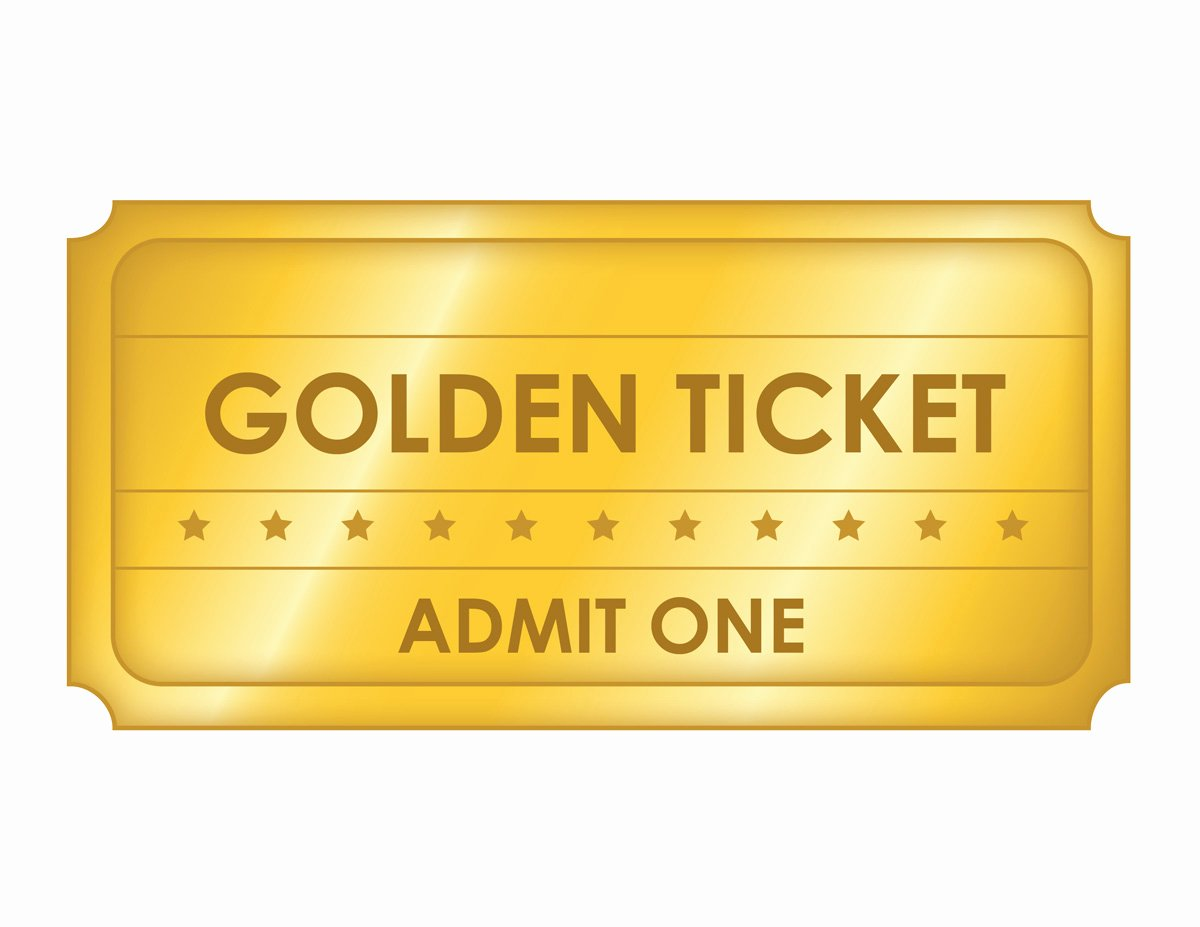 Free Printable Tickets Template Best Of Free Printable Golden Ticket Templates