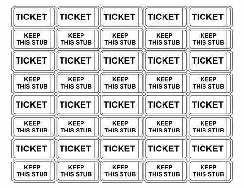 Free Printable Tickets Template Fresh Printable Admission Tickets without Numbers