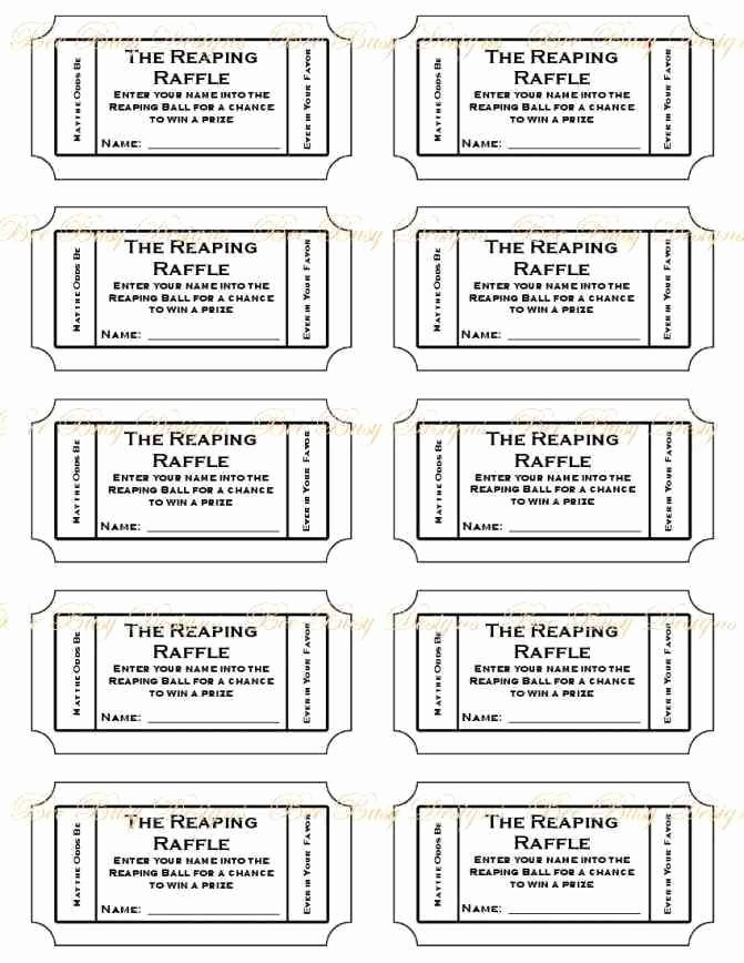 Free Printable Tickets Template Inspirational Free Printable Raffle Ticket Template Printable Numbered