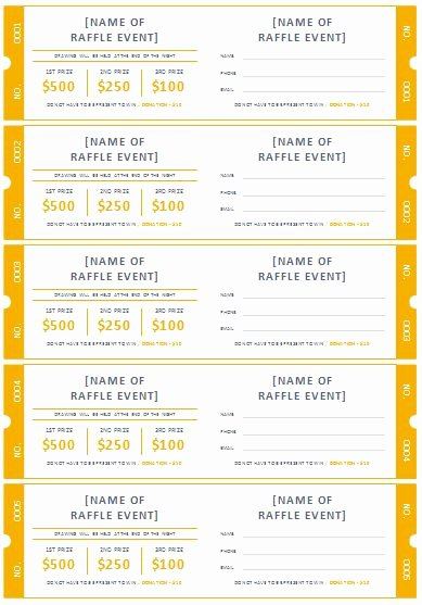 Free Printable Tickets Template Inspirational Free Printable Raffle Ticket Templates