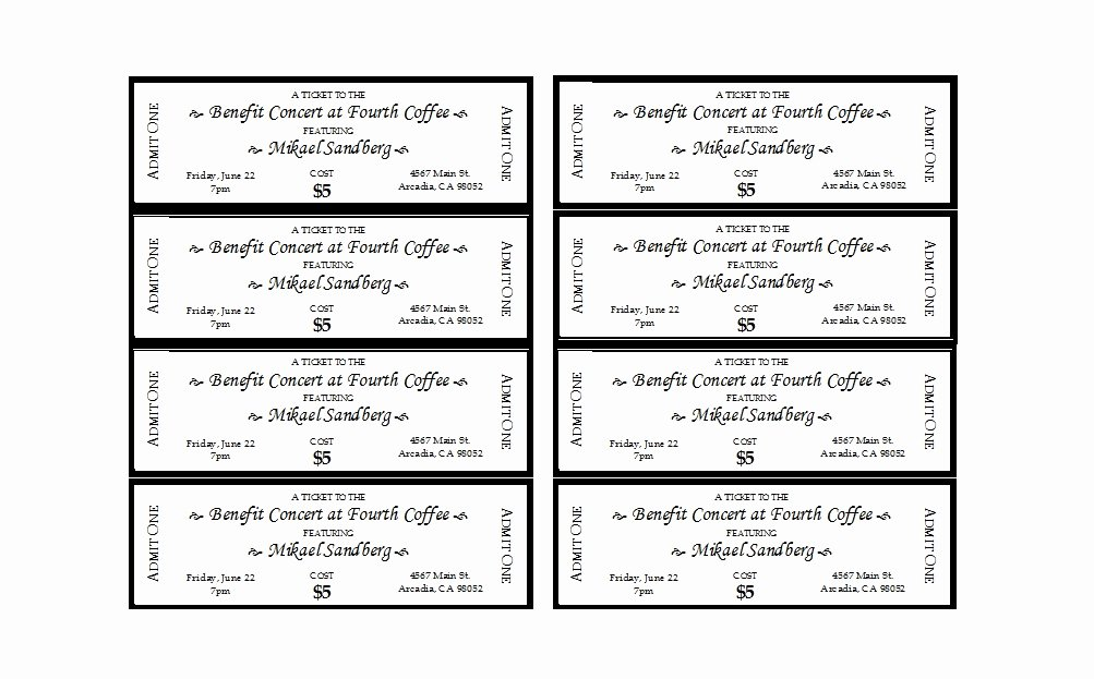 Free Printable Tickets Template Lovely 22 Free event Ticket Templates Ms Word Template Lab
