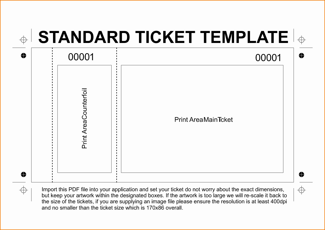 Free Printable Tickets Template Lovely 6 Free Printable Raffle Tickets Template
