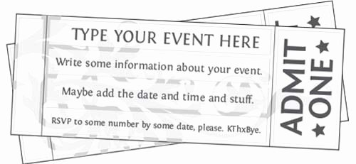 Free Printable Tickets Template Luxury Free Printable event Ticket Templates