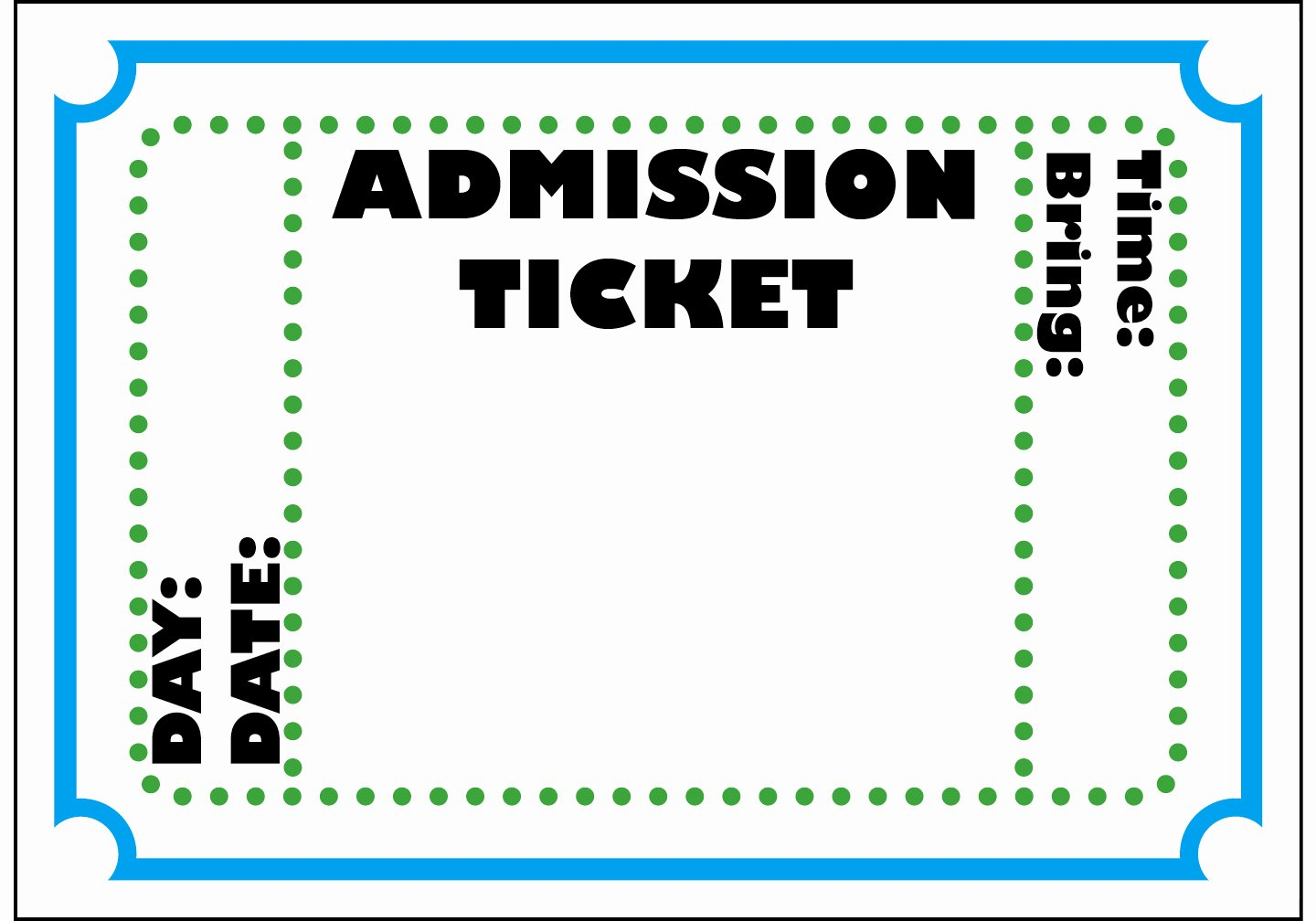Free Printable Tickets Template New Free Printable Admit E Ticket Template Clipart Best