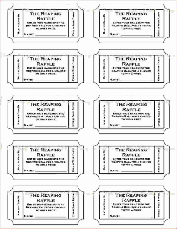 Free Printable Tickets Template New Free Printable Raffle Tickets Template Template