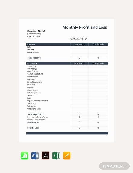 Free Profit Loss Template Awesome Free Monthly Timesheet Template Download 359 Sheets In