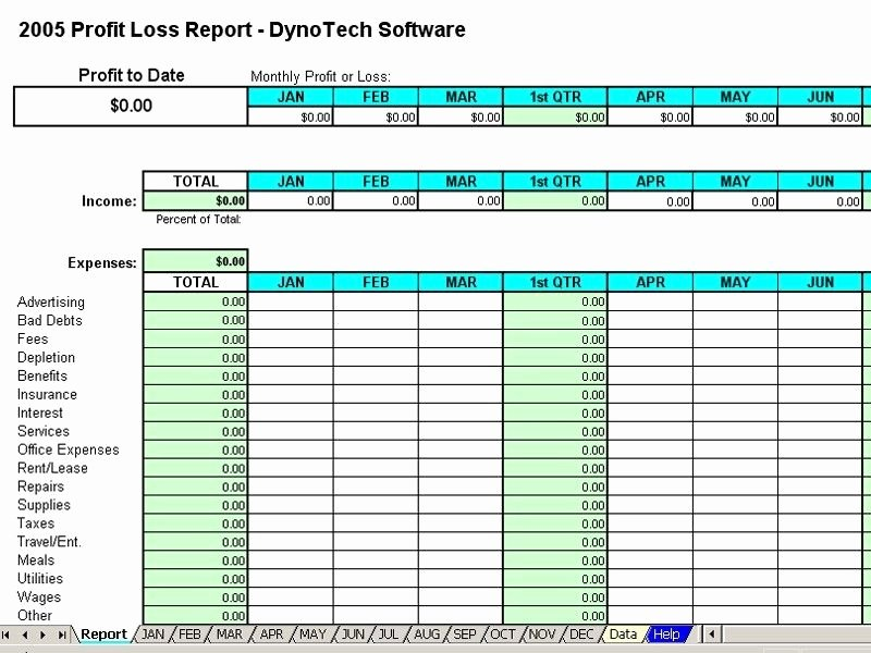 Free Profit Loss Template Beautiful Monthly Expense Report Template