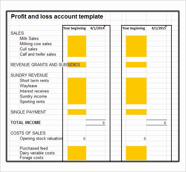 Free Profit Loss Template Fresh Free 21 Sample Profit and Loss Templates In Google Docs