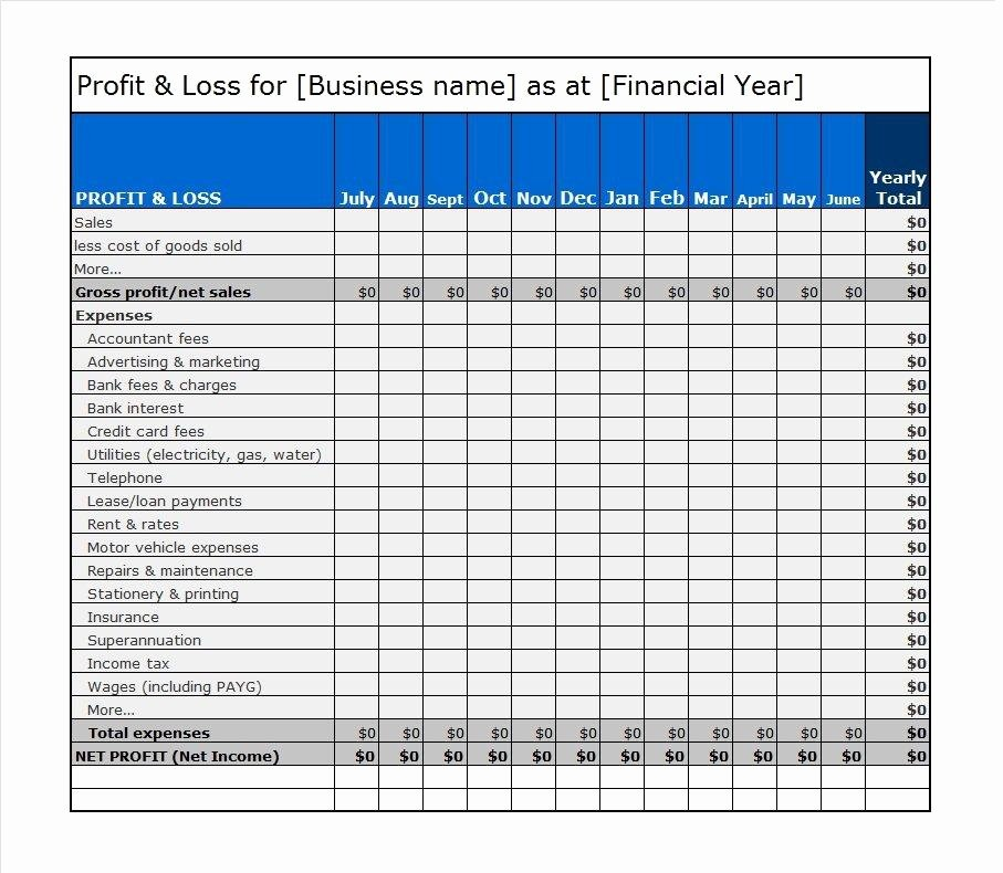 Free Profit Loss Template Unique 38 Free Profit and Loss Statement Templates & forms Free