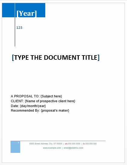 Free Proposal Templates for Word Awesome Grant Proposal Template Microsoft Word Templates