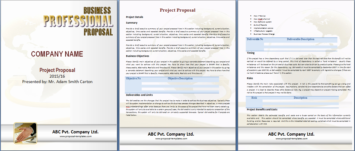 Free Proposal Templates for Word Beautiful Free Microsoft Word Proposal Template