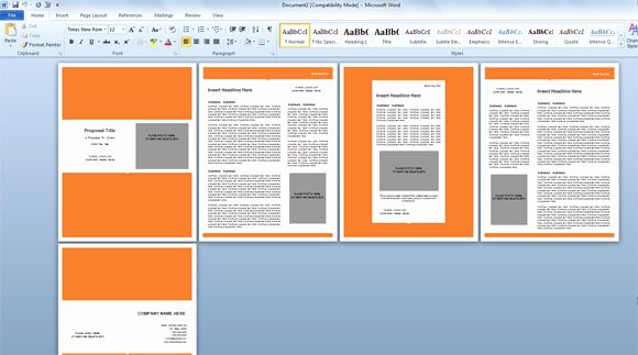 Free Proposal Templates for Word Beautiful Modern Proposal Template for Microsoft Word
