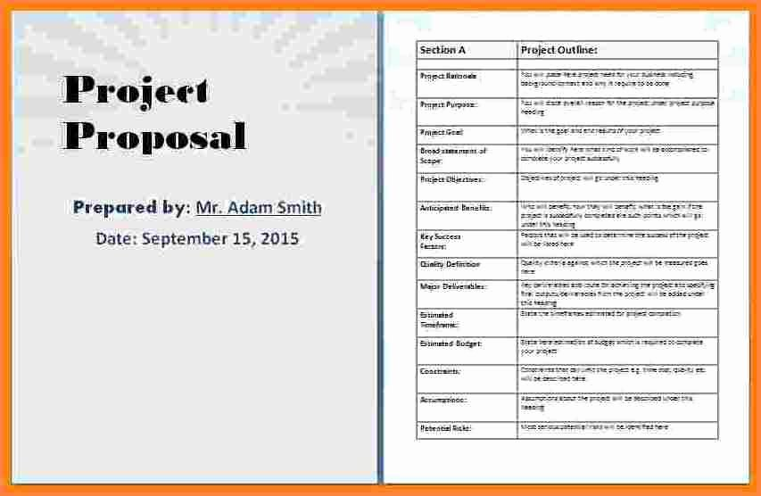 Free Proposal Templates for Word Elegant 4 Business Proposal Template Microsoft Word