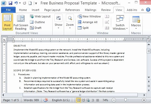 Free Proposal Templates for Word Elegant Free Business Proposal Template for Microsoft Word