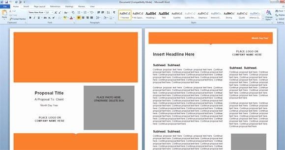 Free Proposal Templates for Word Elegant Modern Proposal Template for Microsoft Word