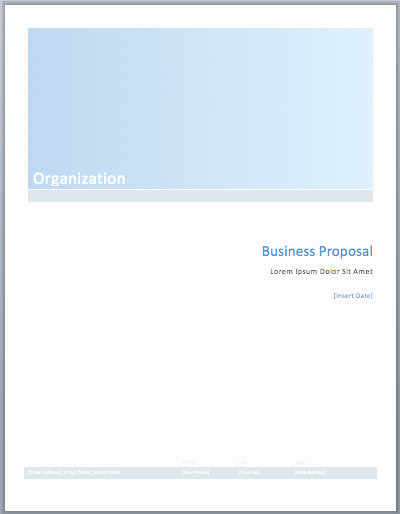 Free Proposal Templates for Word Inspirational Business Proposal Template – Word Templates for Free Download